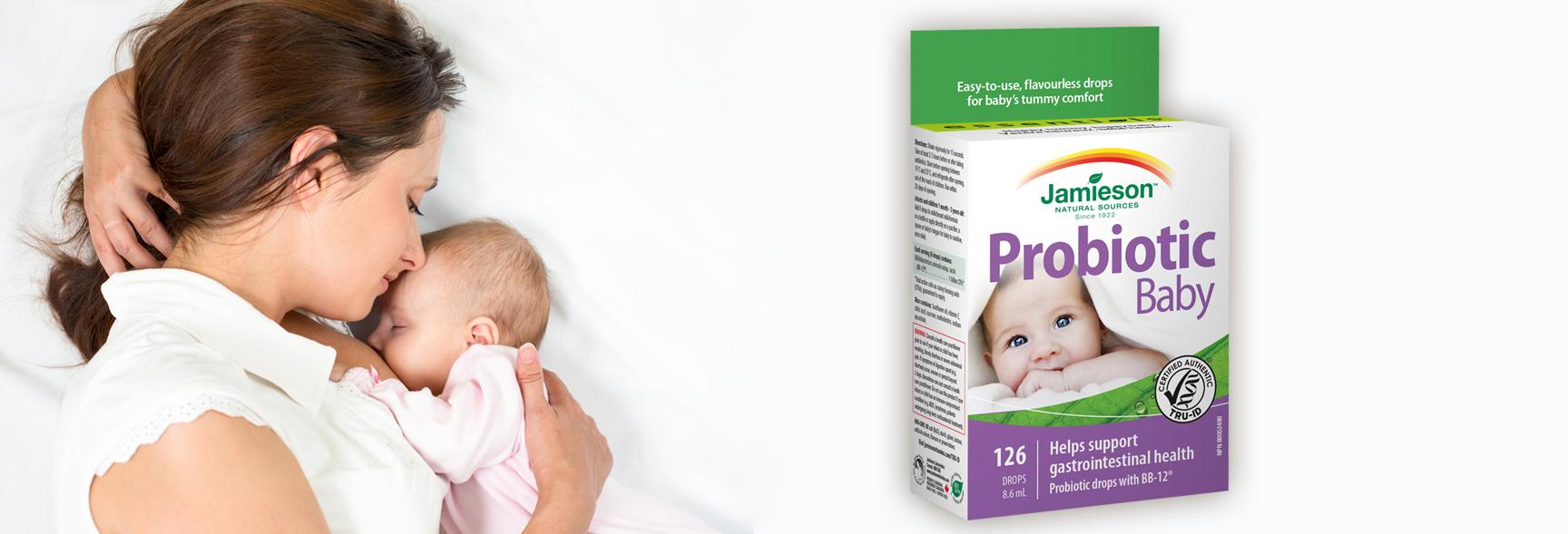 Probiotiká pre spokojné bruško bábätka